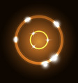 abstract background with orange circles vector image