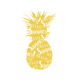 abstract pineapple pineapple vector image