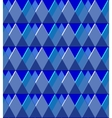 Background of the blue rhombus vector image vector image