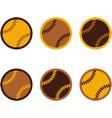 Baseballs flat design vector image vector image