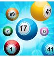 bingo ball burst vector image vector image