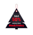 black friday tag discount badge holiday shopping vector image