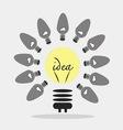 Bulb light idea idea concept vector image vector image