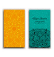 cards template for yoga studio isolated vector image