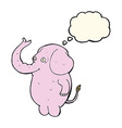 cartoon funny elephant with thought bubble vector image vector image