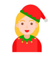 christmas avatar or winter fashion flat style vector image vector image