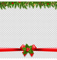 christmas garlands transparent background vector image vector image