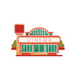 cinema building front view on vector image
