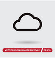 cloud icon in modern style for web site and vector image vector image