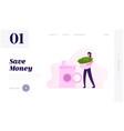 crime financial fraud website landing page woman vector image vector image