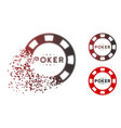 decomposed pixelated halftone poker casino chip vector image vector image