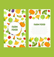 farm food banners set with place for test fresh vector image vector image