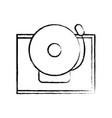 figure school bell alert object design vector image vector image