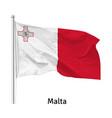 flag republic malta vector image