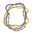 frame with beads in mardi gras colors vector image vector image