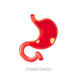 gastric cancer concept in flat style icon vector image vector image