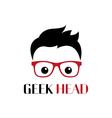 Geek person logo template vector image vector image