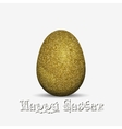 Gold glitter easter holiday egg vector image vector image