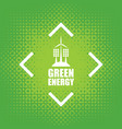 green energy with wind turbines and solar panels vector image