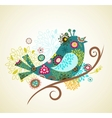 Greeting card with bird vector | Price: 1 Credit (USD $1)