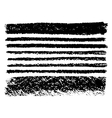 hand drawn collection artistic of charcoal vector image