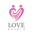 hearth love people logo vector image