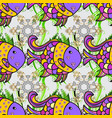 kids backgroundfishes on gray violet and yellow vector image