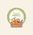 linear badge - local market vector image vector image
