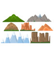 majestic mountains set vector image