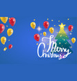Merry christmas calligraphy with background