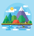 Morning landscape in the mountains vector image vector image