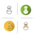 newborn chicken icon vector image