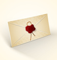 Old vintage style envelope vector image vector image