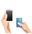 online and mobile payments concept vector image vector image