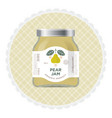 pear jam label and packaging vector image vector image