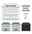 post officemail and postman single icon in vector image vector image