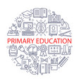 primary education icons set vector image
