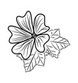 purple mallow flower floral hand drawn design sign vector image vector image