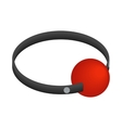 Red ball gag with a belticon isometric 3d style vector image vector image