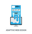 responsive web design abstract vector image