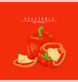 ripe fresh peppers vector image vector image