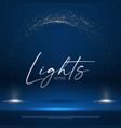 shining spotlights and empty scene glittering vector image vector image