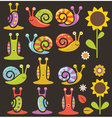 Snails and flowers vector image