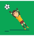 Soccer goalkeeper catching a ball vector image vector image