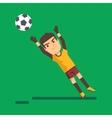 Soccer goalkeeper catching a ball vector image
