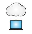 technology digital cyber security laptop cloud vector image vector image