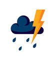 thunderstorm icon in flat style simple vector image