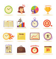 time management themed isolated set vector image vector image