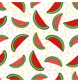 watermelon seamless pattern dessert texture with vector image vector image