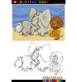 Wild Safari Animals for Coloring vector image